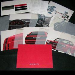 Audi Sport Quattro sales portfolio 1985
